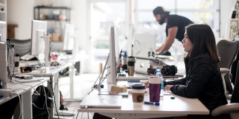 startup office desk